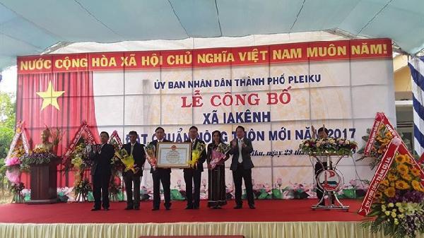Thành phố Pleiku – Gia Lai: Tổ chức lễ công bố các xã đạt chuẩn nông thôn mới năm 2017