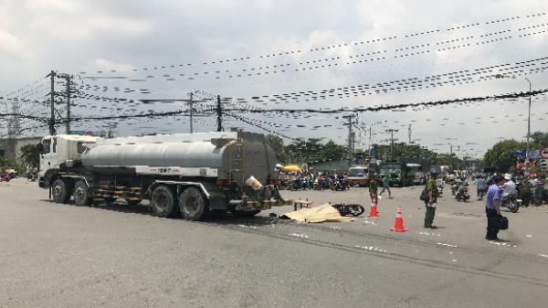 Trên đường về quê ở Gia Lai, đôi nam nữ bị xe bồn cán thương vong