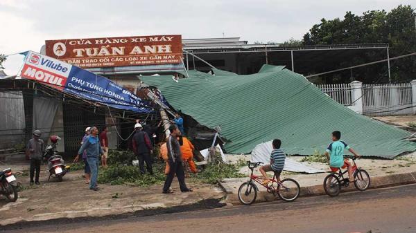 Lốc xoáy gây thiệt hại ở Gia Lai
