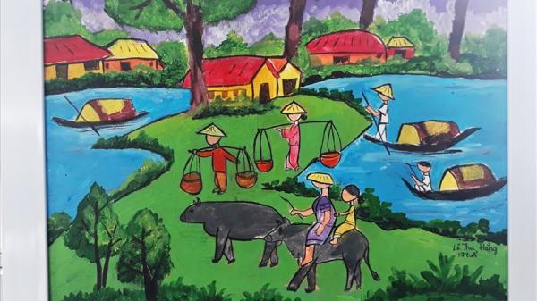 Cảnh làng quê, đại ngàn Tây Nguyên qua nét vẽ của thiếu nhi Gia Lai