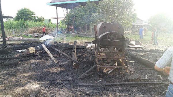 Gia Lai: Lửa thiêu rụi nhà sàn, thiệt hại hơn 170 triệu đồng