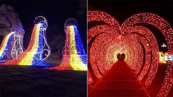 Gia Lai: Hé lộ những hình ảnh lung linh đầu tiên của lễ hội ánh sáng, nhìn là muốn đi ngay