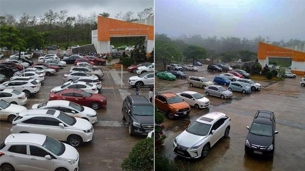 Choáng ngợp cảnh hàng trăm 'xế hộp' xịn trong buổi họp phụ huynh ở Gia Lai: Dân mạng ai cũng suýt ngất về độ giàu có chất chơi