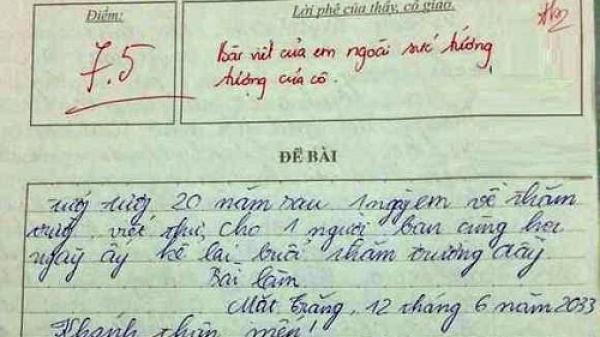 Giáo viên đau đầu với bài văn dự đoán tương lai của học trò: Bài viết của em ngoài sức tưởng tượng của cô
