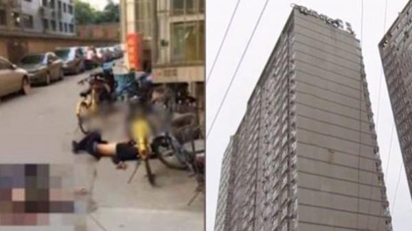 Nóng: Chết thảm sau khi bị người nhảy lầu tự tử rơi trúng đầu