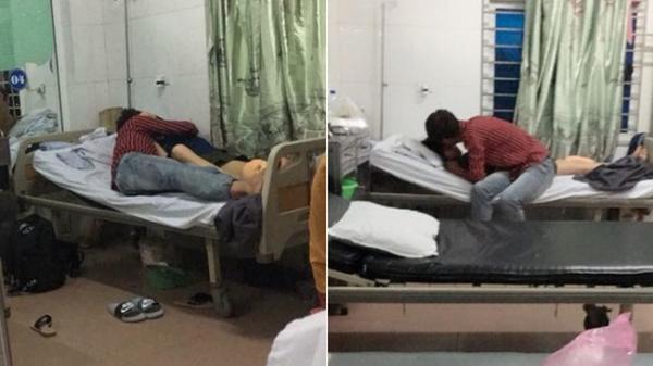 Cư dân mạng sốc với cặp đôi hồn nhiên ôm hôn nồng nhiệt trên giường mặc kệ nhiều bệnh nhân và bác sĩ