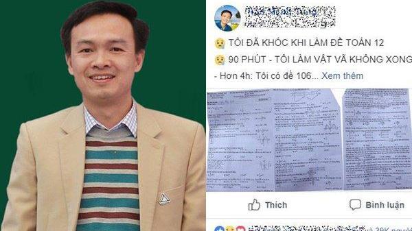 Thầy Trần Mạnh Tùng: 'Tôi đã khóc khi làm đề thi Toán'