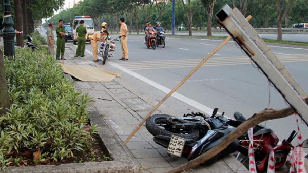 Nam thanh niên gục chết  bất thường cạnh xe máy trên vỉa hè