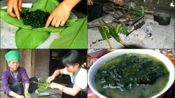 Lên Hà Giang thưởng thức rêu nướng của người Tày