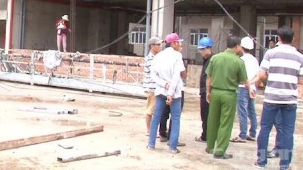 Vĩnh Long: Ngã từ lầu 5 công trình xây dựng bệnh viện, một người tử vong