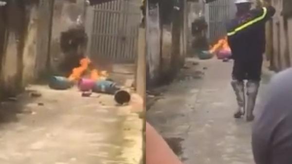 Kinh hoàng: Con rể mang bình gas đến trước cửa nhà bố mẹ vợ châm lửa đốt khiến hàng xóm náo loạn