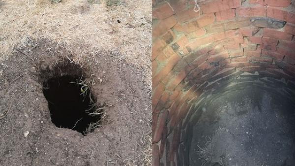 """Phát hiện căn hầm dưới cái lỗ lạ, thanh niên tò mò khai quật rồi nhận lời giải thích """"đắng"""""""
