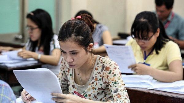 Chấm thẩm định bài thi THPT Quốc gia một tỉnh của miền Tây