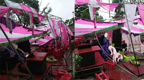 CLIP HOT: Cười ra nước mắt với đám cưới 5 lần chuyển rạp vì ngập lụt
