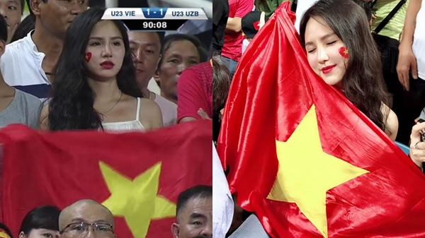 Hot girl World Cup' gây chú ý trong trận U23 Việt Nam – Uzbekistan hóa ra là cô gái cực nổi tiếng