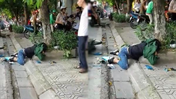 Clip nam thanh niên bị tai nạn nằm gục bên đường không ai giúp đỡ gây tranh cãi