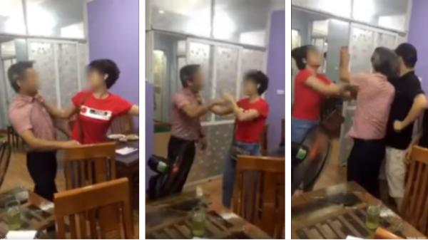 Bắt quả tang chồng dẫn cả nhà bồ trẻ đi ăn nhà hàng, vợ lao vào đánh ghen, bồ rút dép chống trả ầm ĩ