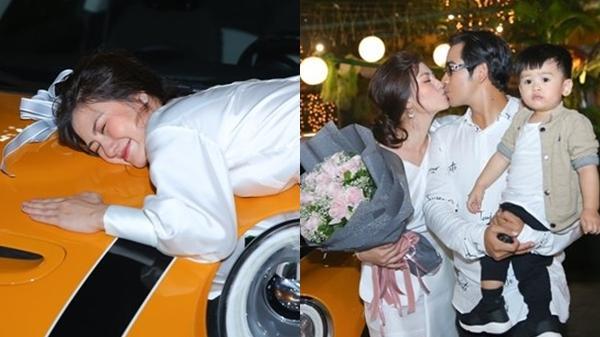 Ngọc Lan lại được chồng tặng xe hơi tiền tỷ dịp sinh nhật, dàn sao Việt có mặt cũng 'lác mắt'