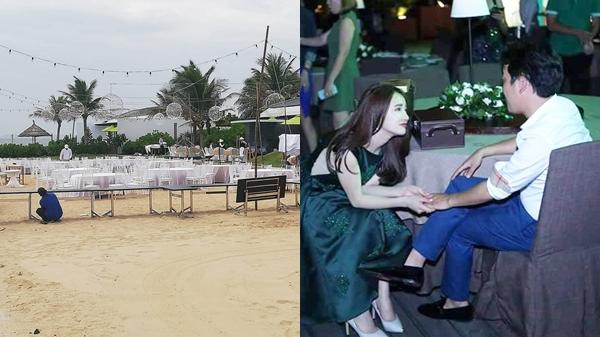 Loạt ảnh đầu tiên từ lễ đính hôn trên bờ biển của Trường Giang, Nhã Phương: Siêu sang, được bảo vệ nghiêm ngặt