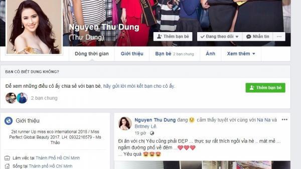 Facebook Á hậu Thư Dung bất ngờ tăng follow chóng mặt, MC Cao Vy khóa facebook