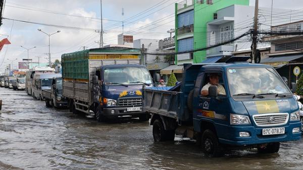 An Giang: Nước lũ kết hợp triều cường gây ngập sâu nội ô Long Xuyên, dự báo cuối tuần mực nước mức cao nhất