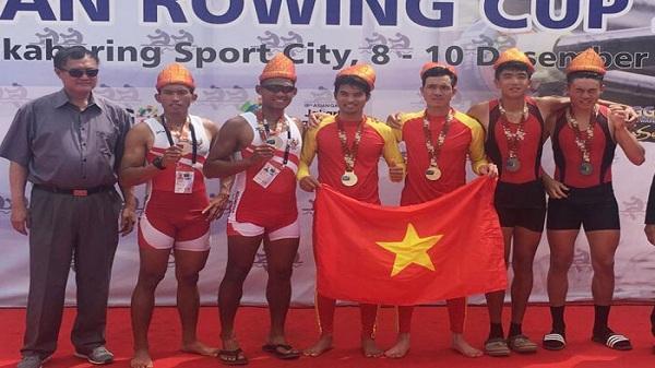 4 tay chèo Hải Dương thi đấu xuất sắc tại Giải Asia rowing Cup 2017