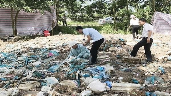 Hải Dương: Xử phạt 250 triệu đồng do chôn lấp chất thải công nghiệp