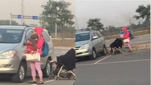 'Hot girl quỵt tiền' Bella ôm con lang thang tại sân bay Cát Bi
