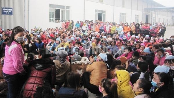 Hải Dương: Gần 1.200 công nhân Công ty TNHH Nam Sinh đình công