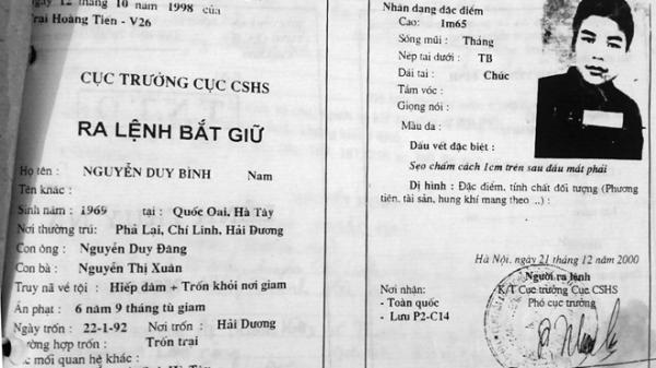 Hải Dương: Bắt kẻ trốn truy nã 25 năm tại nhà người tình