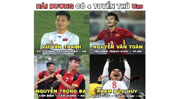 CHI TIẾT thời gian, địa điểm gặp mặt và vinh danh 4 cầu thủ Hải Dương của U23 Việt Nam
