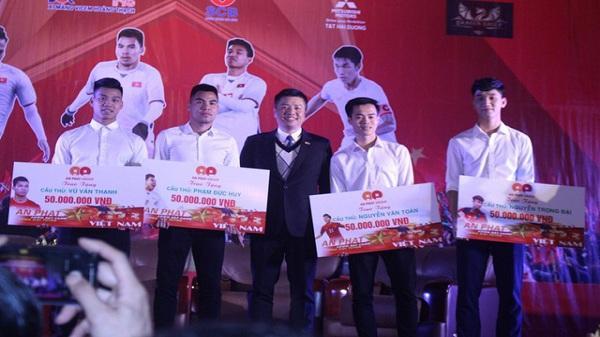 4 tuyển thủ U23 quê Hải Dương nhận được bao nhiêu tiền thưởng trong lễ vinh danh?