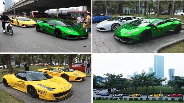 """Dàn siêu xe triệu đô trên đường """"đổ bộ"""" về Hải Dương bị Cảnh sát giao thông """"tóm gọn"""""""