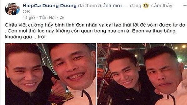 Hiệp Gà lên tiếng trấn an Châu Việt Cường 'hãy bình tĩnh'