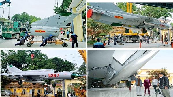 Bảo tàng tỉnh Hải Dương: Trưng bày máy bay chiến đấu MIG-21