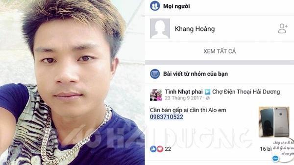 Thanh niên quê Hải Dương liều lĩnh rao bán đồ cướp giật trên mạng bị công an tóm gọn