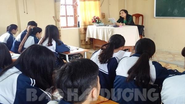 Hải Dương: Thông tin về vụ việc cô giáo dạy văn dùng lời lẽ chưa phù hợp