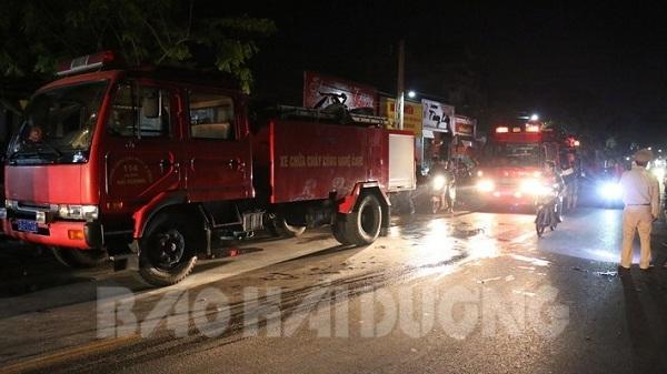 Hải Dương: Cháy lớn tại cơ sở thu mua phế liệu