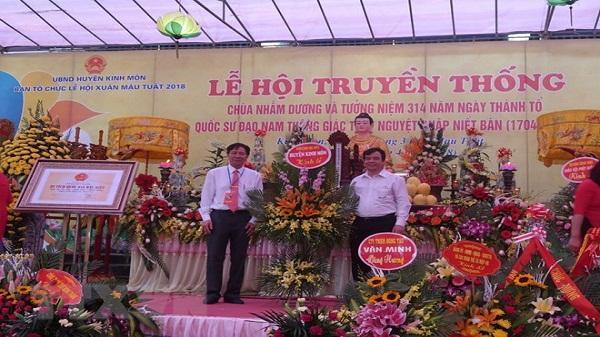 Hải Dương: Khai hội truyền thống chùa Nhẫm Dương ở Kinh Môn