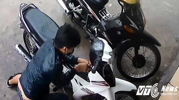 Hải Dương: Lấy trộm xe máy ngay trước cửa phòng trọ