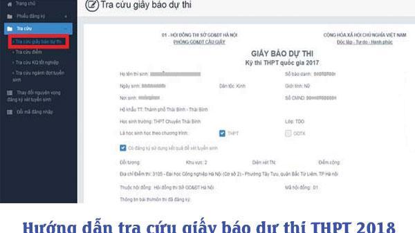 Cách tra cứu giấy báo dự thi THPT Quốc gia 2018 online chính xác nhất
