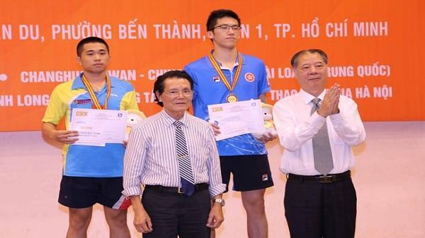 Nguyễn Đức Tuân đoạt huy chương đồng Giải Cây vợt vàng 2017