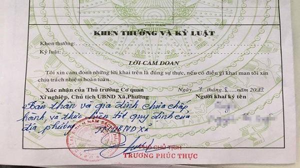 Phó chủ tịch xã phê bình cả nhà cô gái khi xác nhận sơ yếu lý lịch