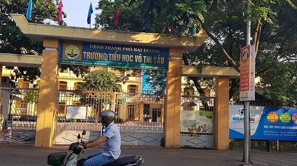 """Hải Dương: Lùm xùm chuyện đóng góp đầu năm học, bữa ăn quá """"đạm bạc"""" ở trường tiểu học Võ Thị Sáu"""