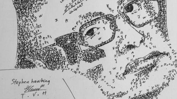 Góc khó tin: Loạt tranh siêu chất về các nhà bác học được 1 nam sinh Hải Dương vẽ bằng... công thức Hóa học và Vật Lý!