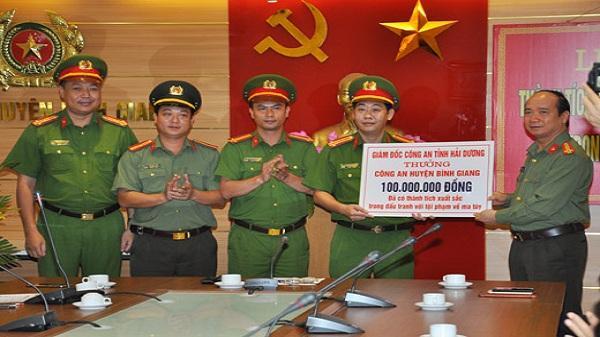 Thưởng Công an huyện Bình Giang 170 triệu đồng
