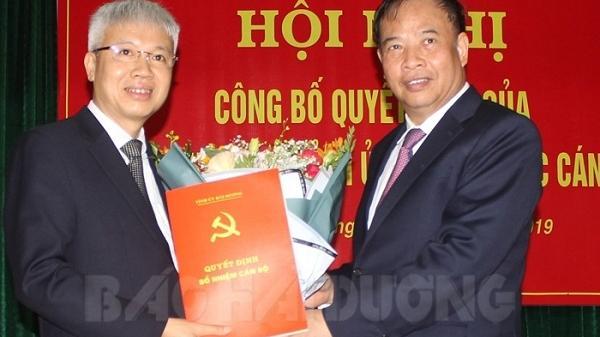 Đồng chí Lê Đình Long giữ chức Bí thư Thành ủy Hải Dương