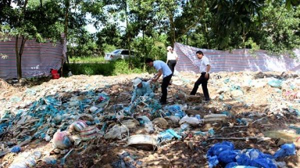 Hải Dương: Phát hiện, xử lý chôn lấp trái phép 1.900 m3 rác thải công nghiệp