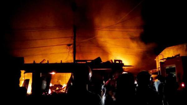 Hải Dương: Cháy kho chứa đồ, 1 nữ công nhân chết thảm