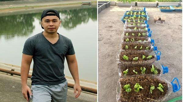 Chàng kỹ sư 9X quê Hải Dương với đam mê trồng rau sân thượng hơn đi chơi